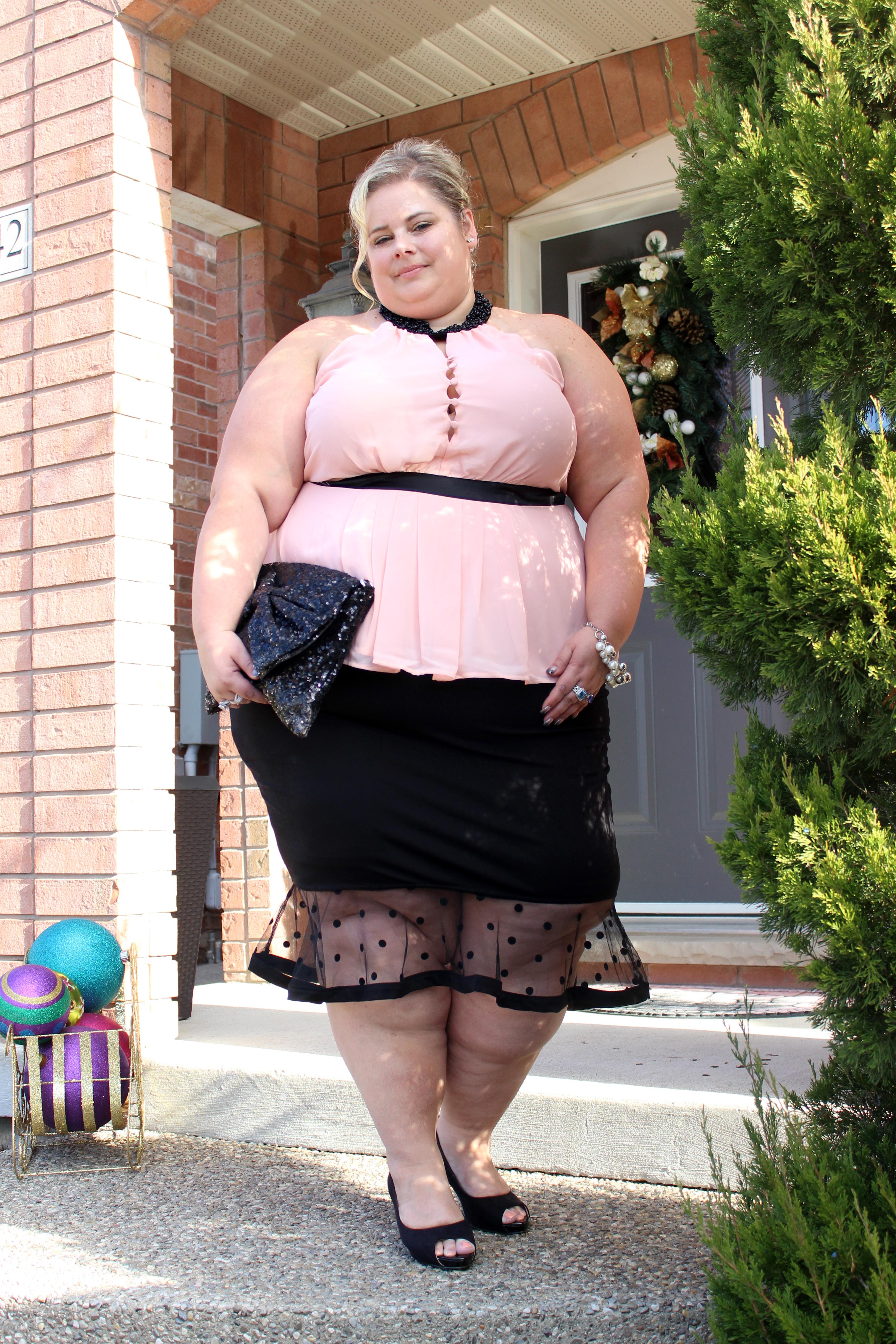 Dress up a black pencil skirt