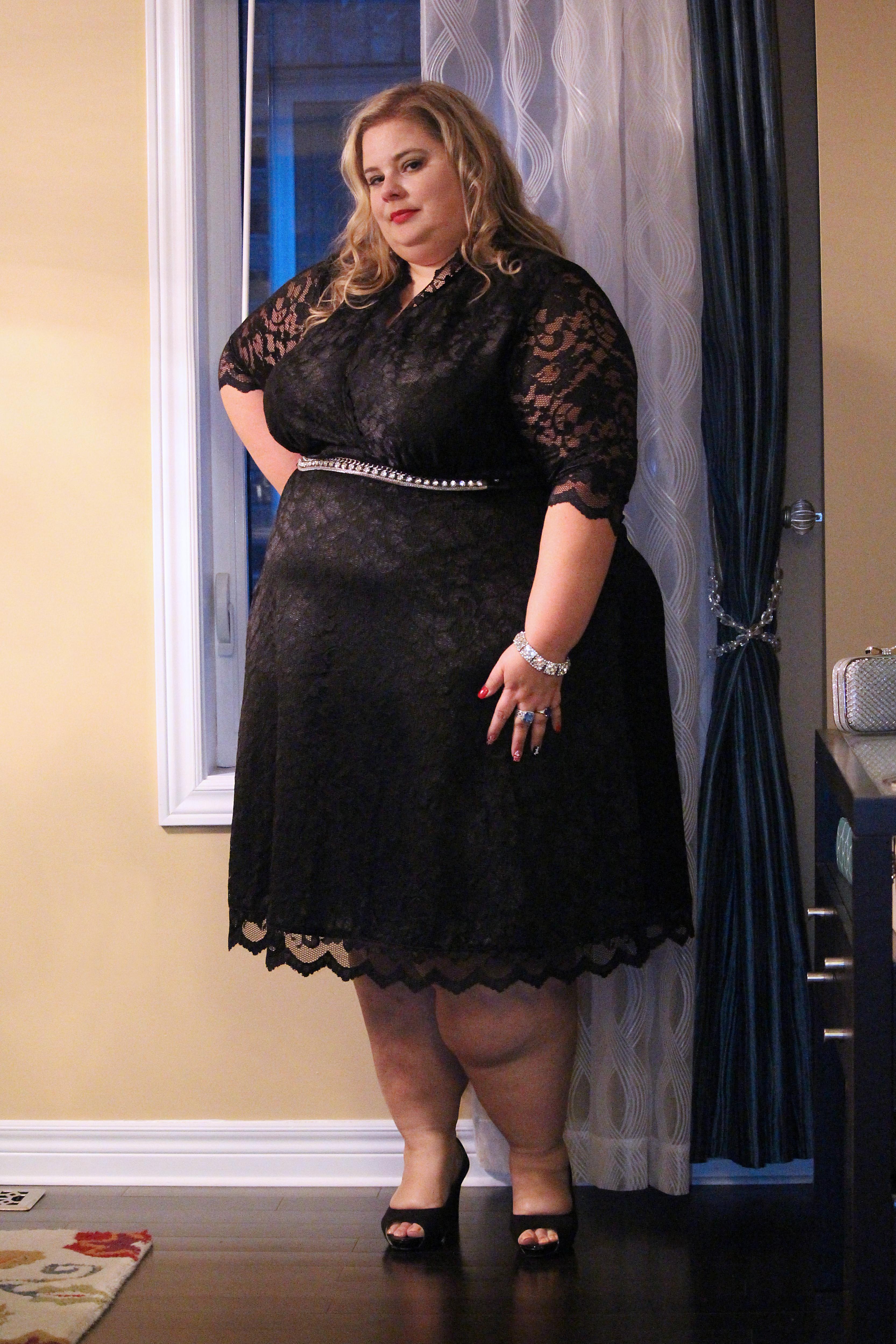 Black bbw getting dressed